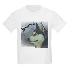 Siberian Husky Reflections Kids T-Shirt