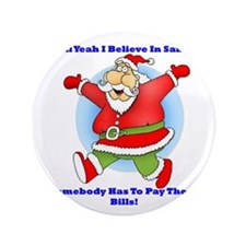 "Santa Bills 10x10 Clr2 3.5"" Button"