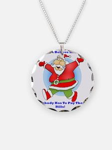Santa Bills 10x10 Clr2 Necklace