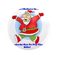 "Santa Bills 10x10 Clr2 3.5"" Button"