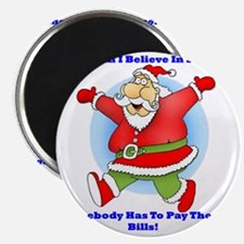 Santa Bills 10x10 Clr2 Magnet