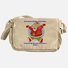Santa Bills 10x10 Clr2 Messenger Bag