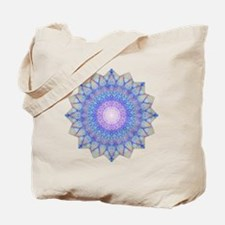 Purple Blue Yoga Mandala Shirt Tote Bag
