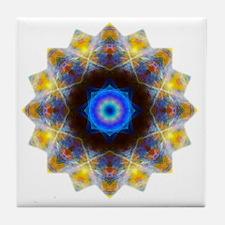 Rainbow Opal Yoga Mandala Shirt Tile Coaster
