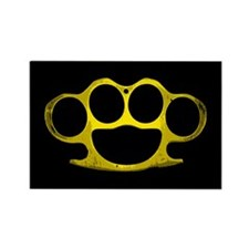 Brass Knuckles Rectangle Magnet