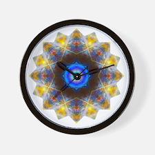 Rainbow Opal Yoga Mandala Shirt Wall Clock