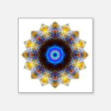 "Rainbow Opal Yoga Mandala S Square Sticker 3"" x 3"""