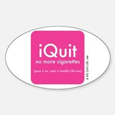 help QUIT smoking Oval Decal