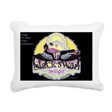 twilight black swan moto Rectangular Canvas Pillow