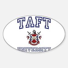 TAFT University Oval Decal