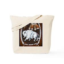 White Buffalo Shield -brownPosterP Tote Bag