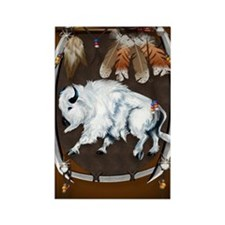 White Buffalo Shield -brownPoster Rectangle Magnet