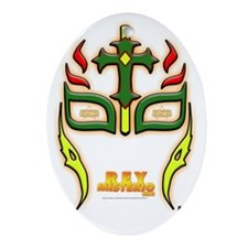 WSW REY MISTERIO HIJO MASK Oval Ornament