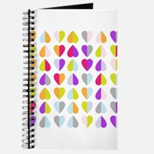 colorful hearts Journal