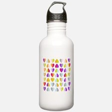 colorful hearts Water Bottle