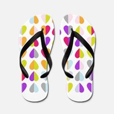 colorful hearts Flip Flops