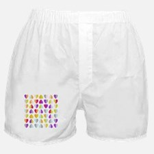 colorful hearts Boxer Shorts