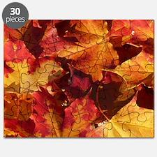 Autumn Thanksgiving Leaves Puzzle