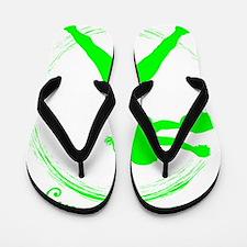 Neon Green, Again Flip Flops