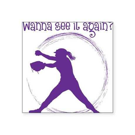 """Purple, Again Square Sticker 3"""" x 3"""""""
