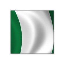 "nigeria_flag Square Sticker 3"" x 3"""