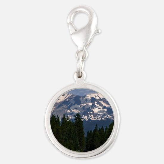 (14) Shasta On The Road Again Silver Round Charm