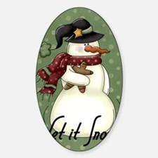 snowman1 Sticker (Oval)