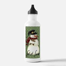 snowman1 Water Bottle