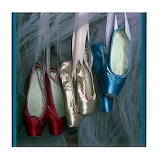 ballet shoes Tile Coaster