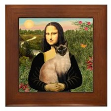 Mona's Siamese cat Framed Tile