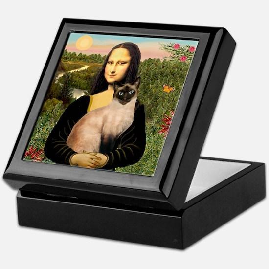 Mona's Siamese cat Keepsake Box