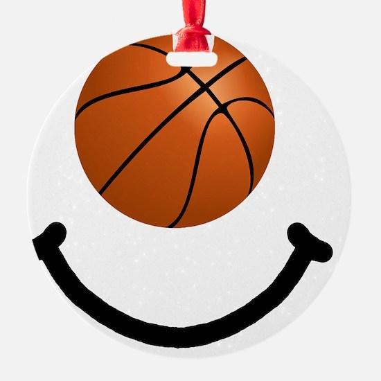 FBC Basketball Smile Black Ornament
