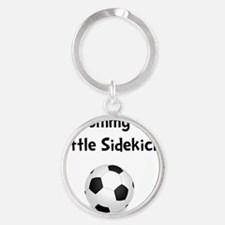 FBC Mommy Sidekick Black Round Keychain