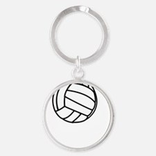 FBC Volleyball Smile White Round Keychain