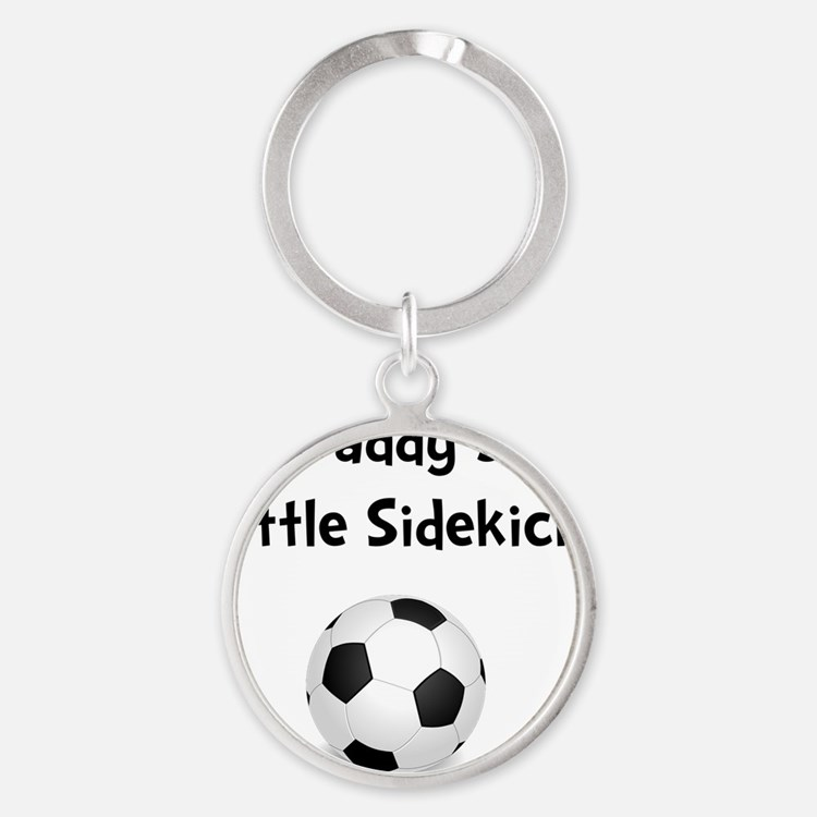 FBC Daddy Sidekick Black Round Keychain