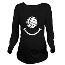 FBC Volleyball Smile Long Sleeve Maternity T-Shirt