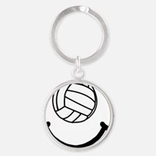 FBC Volleyball Smile Black Round Keychain