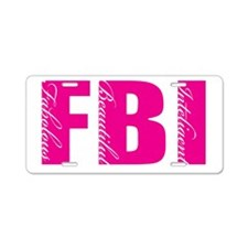 FBI FEMALE Aluminum License Plate