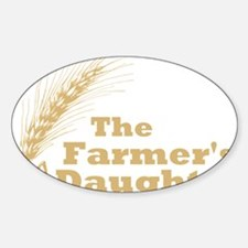 Farmers Daughter 2 Large Sticker (Oval)
