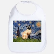 Starry Night Siamese Bib