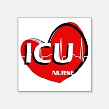"ICU NURSE2 Square Sticker 3"" x 3"""