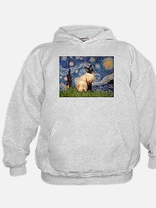 Starry Night Siamese Hoodie