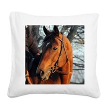 Big Brown2_sized 8x10 Square Canvas Pillow