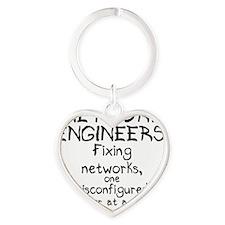 network-engineers Heart Keychain