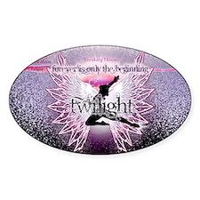 breaking dawn pink angel good copy Sticker (Oval)