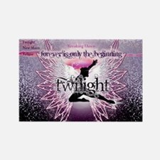 breaking dawn pink angel good cop Rectangle Magnet