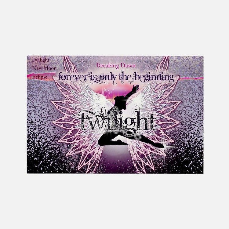 breaking dawn pink angel good cop Rectangle Magnet