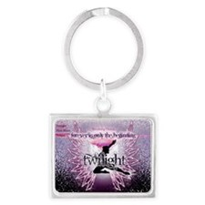 breaking dawn pink angel good c Landscape Keychain