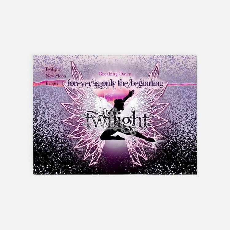 breaking dawn pink angel good copy 5'x7'Area Rug