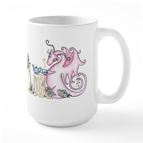 "World of Whimsy Large Mug ""Tea Party"" Dragon"